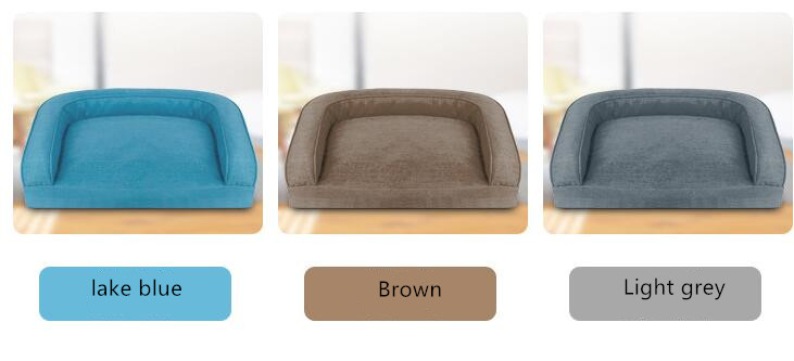 Linen washable pet nest, Autumn and winter warm dog mattress, kennel cat litter, Fashion sofa type kennel,Warm dog kennel in winter