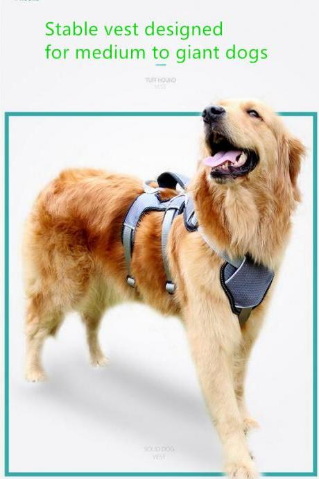 Pet Supplies Dog Chest Straps Traction Rope Dog Chain Medium Large Dog Leash Collar Explosion-Proof Punch Strap