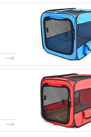 Pet Car Folding Cage Car Kennel 600D Oxford Cloth Portable Folding Pet Tent ,Dog House Cage Dog Cat Tent Playpen Puppy Kennel